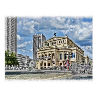 Théâtre d'opéra à Francfort Carte Postale