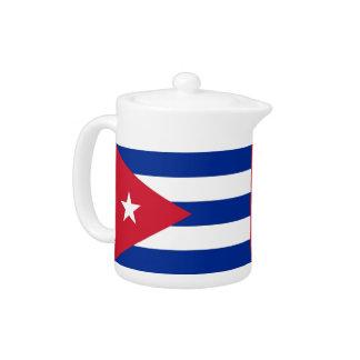 Théière de drapeau de Cubanese