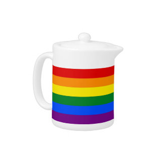 Théière de drapeau de fierté de l'arc-en-ciel LGBT