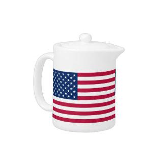 Théière de drapeau des Etats-Unis