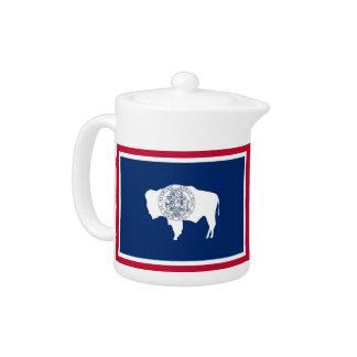 Théière de drapeau d'état du Wyoming