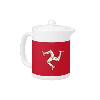 Théière de drapeau d'île de Man