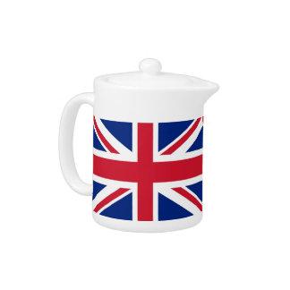 Théière de drapeau du Royaume-Uni