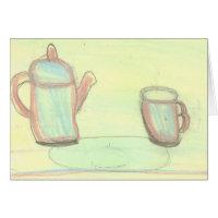 théière et tasse