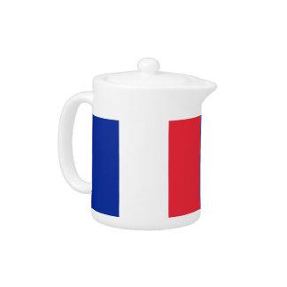 Théière française de drapeau