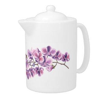 Théière pourpre d'orchidée