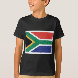 Thème de drapeau de l'Afrique du Sud T-shirt