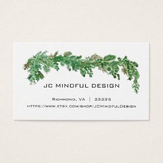 Thème minimal de verdure de carte de visite