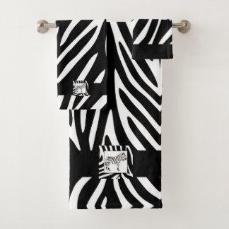 Thème noir et blanc de safari de jungle de zèbre