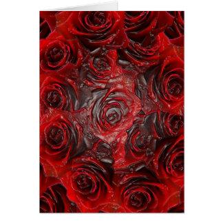 Thème rose brûlé 3D Carte De Vœux