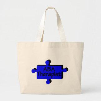 Thérapeute d'aba (bleu P) Grand Sac