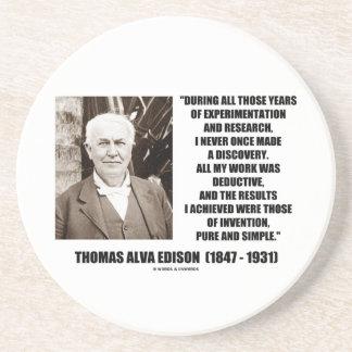 Thomas Edison résulte citation simple pure Dessous De Verre En Grès
