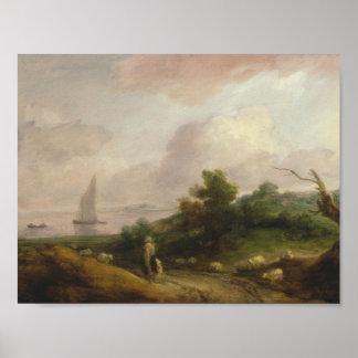 Thomas Gainsborough - paysage côtier Poster
