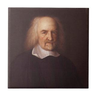 Thomas Hobbes de Malmesbury par John Michael Wrigh Petit Carreau Carré