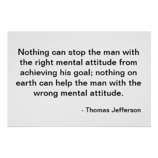 Thomas Jefferson Quote - Houding Poster