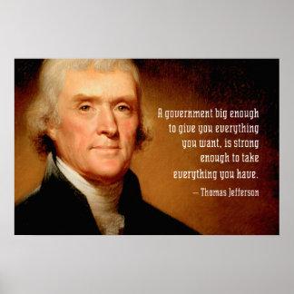 Thomas Jefferson Quote op het Grote Poster van de
