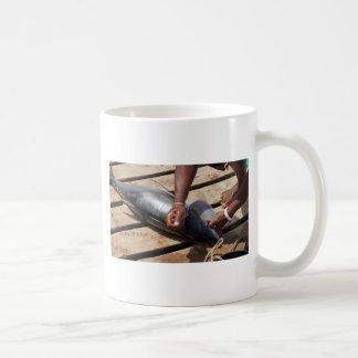 thon jaune d'ailerons mug