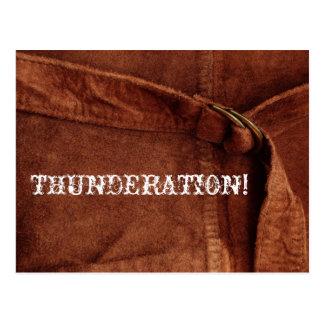 THUNDERATION ! vieux-timey texte blanc sur la Carte Postale