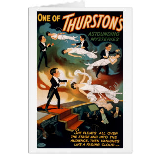 """Thurston - carte """"comme nuage de effacement"""""""
