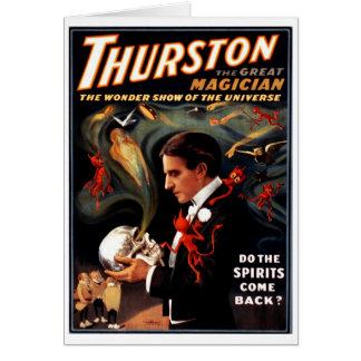 """Thurston - """"faites les spiritueux revient ?"""" Carte"""