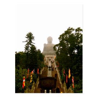 Tian Tan Bouddha Carte Postale