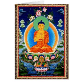 Tibétain Thangka Prabhutaratna Bouddha Carte