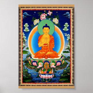 Tibétain Thangka Prabhutaratna Bouddha Poster