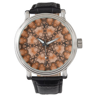 Tiedye orange de brun de Bohème ethnique de Montres Bracelet