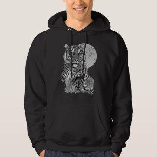 Tigre avec CUB (B/W) sweat - shirt à capuche