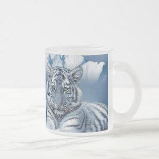 Tigre blanc bleu tasse givré
