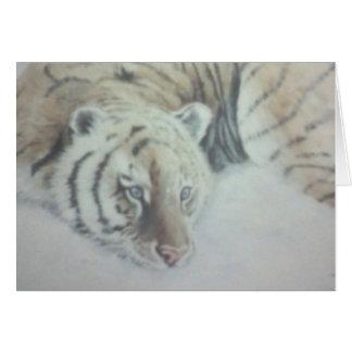 Tigre blanc carte de vœux