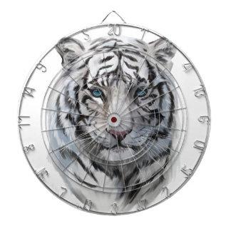 Tigre blanc jeux de fléchettes