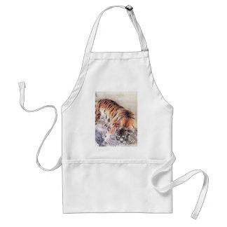 Tigre dans la brume tablier