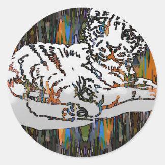 Tigre de bébé sticker rond