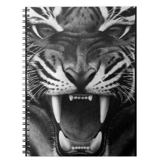 Tigre d'hurlement carnet à spirale