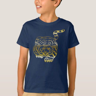 Tigre d'or - T-shirt foncé de base