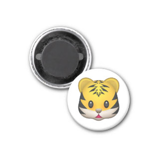 Tigre - Emoji Magnet Carré 2,50 Cm