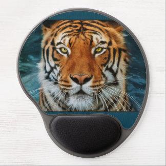 Tigre en photographie de l'eau tapis de souris gel