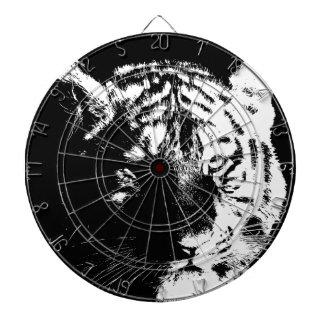Tigre noir et blanc d'art de bruit cible de fléchettes