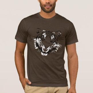 tigre noir et blanc t-shirt
