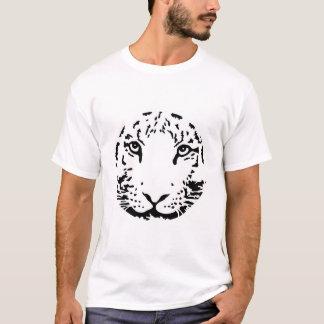 Tigre rond de blanc de visage de tête de cercle t-shirt