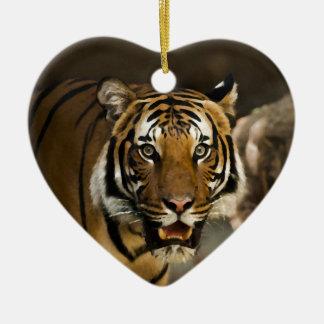 Tigre sibérien ornement cœur en céramique