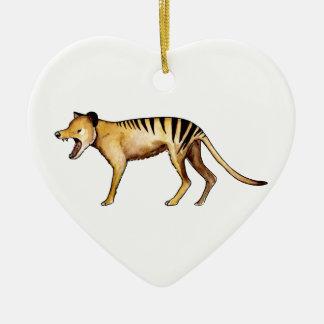 Tigre tasmanien, Thylacine Ornement Cœur En Céramique