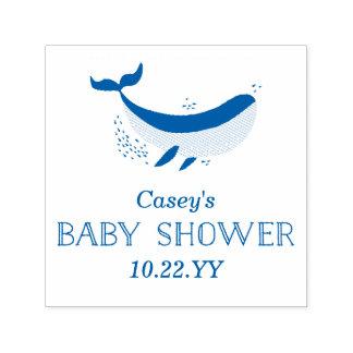 Timbre de baby shower d'espèce marine tampon auto-encreur