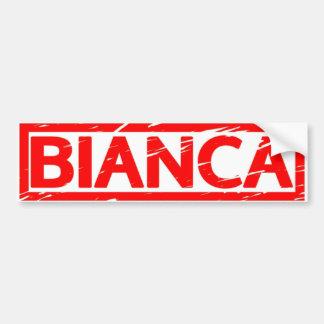 Timbre de Bianca Autocollant De Voiture