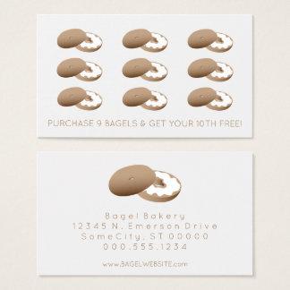 timbre de fidélité de bagels cartes de visite