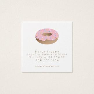 timbre de fidélité de beignet carte de visite carré