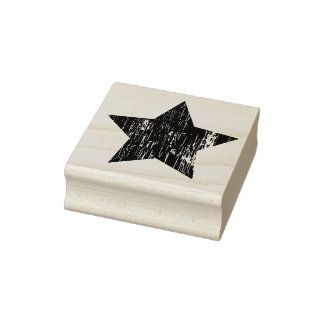 Timbre en caoutchouc affligé d'art d'étoile en