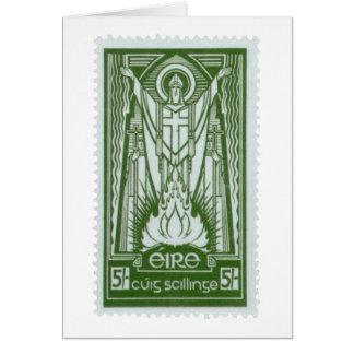 Timbre-poste irlandais de St Patrick Carte De Vœux