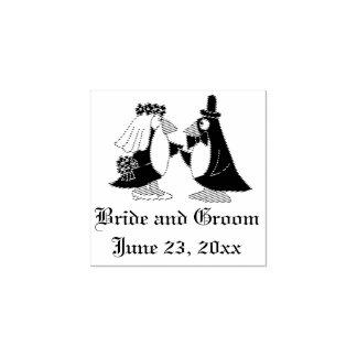 Timbre pour mariage frais de jeunes mariés de